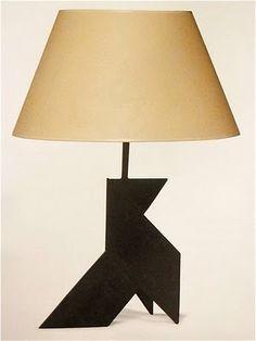 Marc Du Plantier, Cocotte, Wrought iron Table lamp, c1955-1960.