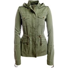 Aeropostale Solid Hooded Parka ($50) ❤ liked on Polyvore featuring outerwear, coats, jackets, pebble olive, hooded parka coat, hooded parka, olive green parka, green parka and parka coat
