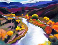 """Rio Chama Overlook"" - by Tracy Turner Landscape Art, Landscape Paintings, Living Colors, Paintings I Love, Pastel Paintings, Art Paintings, Southwestern Art, Folk, Mexico Art"