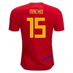 86e4d75a311 Nacho Fernandez 15 2018 FIFA World Cup Spain Home Soccer Jersey France Soccer  Jersey