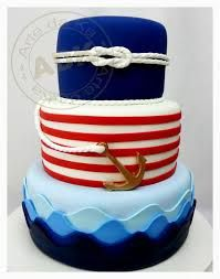 We love themes! This nautical cake is just to cute to pass up! Cupcakes, Cupcake Cookies, Cake Icing, Fondant Cakes, Amazing Cakes, Beautiful Cakes, Boat Cake, Nautical Cake, Party Fiesta