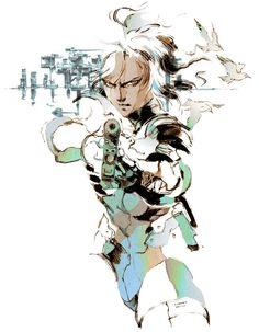 MGS2. Raiden Illustration. Yoji Shinkawa.