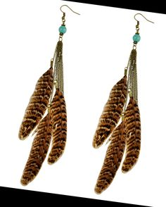 Large pretty feathers long earrings is available at Department Golden Pineapple. PM/emails at departmentgoldenpineapple@gmail.com for further info!
