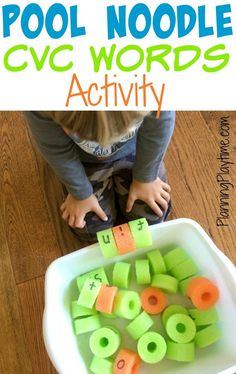 Your kindergartners will love reading with this fun Pool Noodle CVC Word Activity. This one works in the kiddie pool or in the house. Check it out!