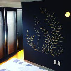 Ring Partners Architecten on Instagram: #muurschildering #zwart #goud