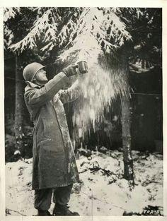 Koffie maken met sneeuw Ardennen