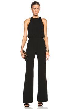 L'AGENCE Crossback Wide Leg Jumpsuit in Black