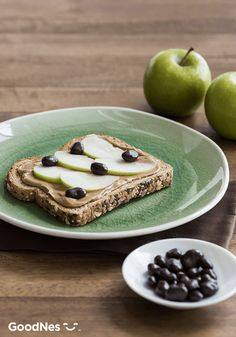 Looking for something to serve your kids for an after-school snack that's quick, easy, and delicious? These Peanut Butter Apple Snackers featuring Nestlé® Raisinets® Dark Chocolate-Covered Raisins is just what you're looking for. Simply top whole wheat toast with apples, peanut butter, and the raisins for a sweet and satisfying treat that will refuel your kids after a busy school day.