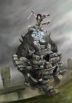 Shadow of the Colossus. The mini colossi. They were terrible. Blauablabuaghagh