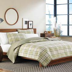 Eddie Bauer Westmont Plaid 3-piece Reversible Quilt Set