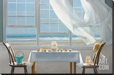 The Shell Collectors Stretched Canvas Print by Karen Hollingsworth at Art.com