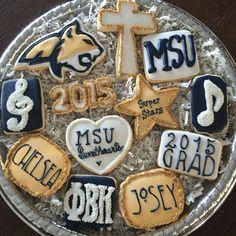 MUS graduation cookies