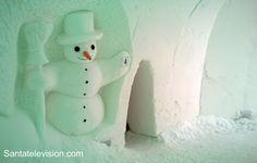 Hotel Igloo Snowman World en el pueblo de Papá Noel en Rovaniemi en Finlandia