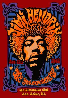 T-Shirt Mec JIMI HENDRIX - 5th Dimension Club