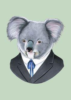 Etsy の Koala print 5x7 by berkleyillustration