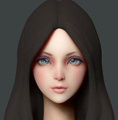 주부9단 (이재섭) : 네이버 블로그 Game Character Design, 3d Character, Character Concept, Zbrush, 3d Portrait, Hand Painted Textures, Modelos 3d, Low Poly Models, 3d Face