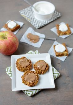 Made with simple ingredients and no added sugar, these Pumpkin Apple Baked Mini Pancakes are kid-friendly, perfect for breakfast or lunch and are full of fall flavors!