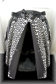 car seat canopy car seat cover cheetah black by JaydenandOlivia
