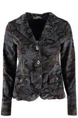 Funky Staff - fluwelen blazer met camouflage print