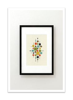 AREA Mid Century Modern Danish Modern Abstract Eames par Thedor