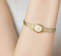 Little woman's watch bracelet  gold plated lady watch by 4Rooms