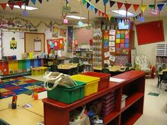 From the back of classroom. Love this colorful classroom!