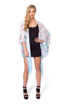 Cherry Blossom Blue Kimono › Black Milk Clothing