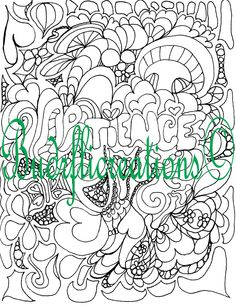 Patience Adult Coloring Page Instant Downloadable Image Fruits of the Spirit by Budrflicreations on Etsy