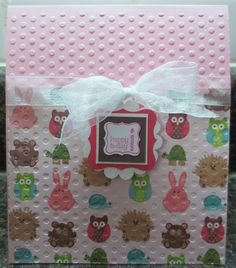 Random Memories: Pop Up Owl 1st Birthday Card and Altered Frame