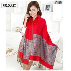 6a9687af129a7 1pc b05 Good Quality Ethnic Women Fashion Design Fringe plaid Flower Wrap Cape  scarf shawl Scarves