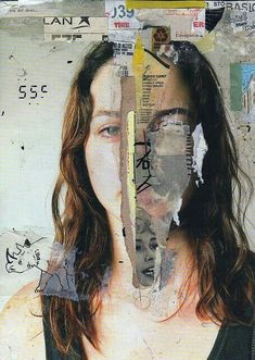 Using collage to express a culture of a person. Medias that effected to shape a person can be used in the collage. Collage Kunst, Art Du Collage, Mixed Media Collage, Collage Portrait, Mixed Media Faces, Face Collage, Artistic Portrait, Canvas Collage, Collage Collage