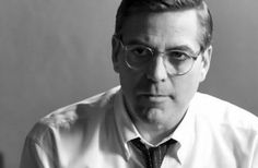 George Clooney (Good Night, and Good Luck), 2005 George Clooney, Good Night Good Luck, Celebrities With Glasses, Celebrity Glasses, The Other Guys, Classic Movie Stars, Wearing Glasses, Mens Glasses, Black And White Pictures
