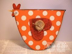 """Totally cute chicken card.  From Diana Gibbs """"Stampin with Di"""""""