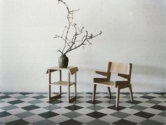 Wood chair.