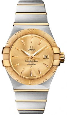 Omega Constellation Womens Auto Brushed Gold & Steel Watch 123.20.31.20.08.001 Discounted