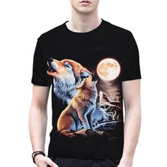 sleeve tattoos 2017 Brand Clothing Wolf Anime 3D Print Stars T Shirt Men Shirts Black Blouse Dark Souls Punisher Sale Items O-neck T-shirts A2 * AliExpress Affiliate's Pin.  Click the VISIT button to view the details on AliExpress website
