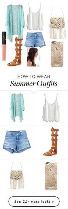 """Summer Outfits"" by iilxrzy on Polyvore featuring Chicwish, rag & bone/JEAN, Casetify, KG Kurt Geiger, REGALROSE and NARS Cosmetics"