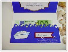 Schiffsreies, Kreuzfahrt, Geburtstag und Kreuzfahrt, Gutschein für Kreuzfahrt, 50. Geburtstag, Karte mit Schiff, Geldgeschenk Kreuzfahrt,