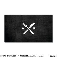 Shop Rustic Crossed Fork Knife Logo Black Wood Business Card created by Personalize it with photos & text or purchase as is! Wood Business Cards, Elegant Business Cards, Custom Business Cards, Business Card Design, Logo Design Trends, Logo Design Inspiration, Ui Design, Branding Design, Knife Logo
