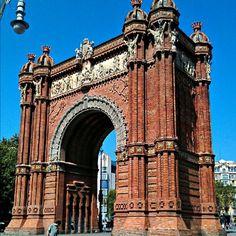 Arc de Triomf à Barcelona, Cataluña