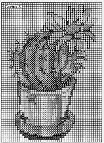 FREE Point Cruz: Cactus embroidered cross stitch