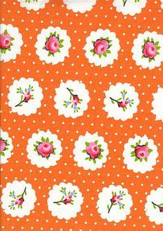 Provence fabric: Suzette orange coordonne