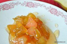 Dulceață de pere rețeta fără conservant | Savori Urbane Romanian Food, Cantaloupe, Panna Cotta, Gem, Food And Drink, Cooking Recipes, Fish, Canning, Ethnic Recipes