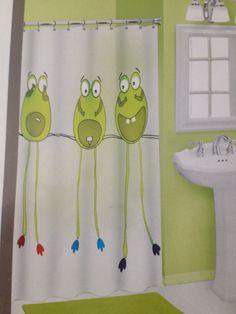 Popular Bath 3D Peva Shower Curtain Semi Private FROG LEGS Eco Friendly  #PopularBath #FrogLegs
