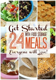 Get Started with Food Storage: 24 Meals Everyone Will Love! http://thesurvivalmom.com/get-started-food-storage-24-meals-everyone-will-love/