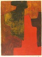 Composition orange et verte von Serge Poliakoff