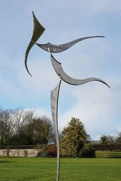 Stainless by Will Carr titled: 'Transfiguration Kinetic Wind sculpture'. Yard Sculptures, Sculpture Art, Steel Sculpture, Kinetic Wind Art, Music Garden, Nature Artwork, Conceptual Design, Yard Art, Landscape
