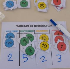 Number disks and number tables Education Math Activities For Kids, Math For Kids, Fun Math, Activity Centers, Math Centers, Montessori Elementary, Elementary Math, Math Numbers, Montessori Materials