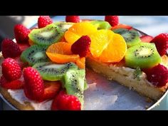 Dessert Fruit Pizza with Maangchi - Cookies Cupcakes and Cardio - YouTube