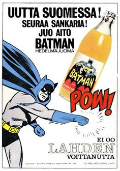 "As a Serious BATMAN Collector I go completely goo-goo over ""Food Products"", ha ha! Book And Magazine, Magazine Ads, Vintage Ads, Vintage Posters, Old Commercials, Old Advertisements, Advertising, Good Old Times, Poster Ads"